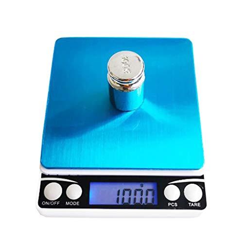 LHHL Digitale weegschaal, hoge precisie, voor keuken, elektronisch eten, waterdichte weegschaal met lcd-display en tara-eigenschappen