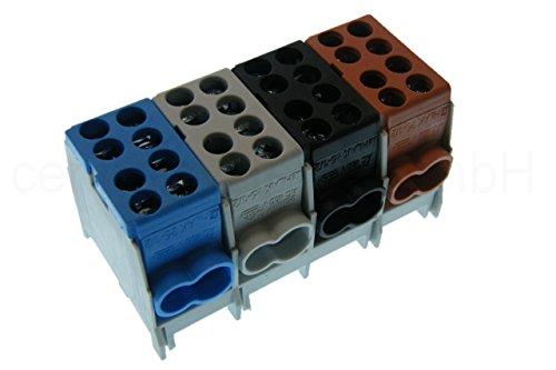 Hauptleitungs Abzweigklemme 4 polig für Hutschiene - Strom Verteiler