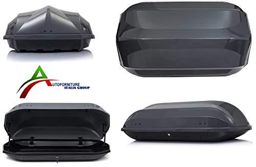 MODULA dakkoffer 320 liter dakbagagedrager dakbagagedrager lichtgrijs 131x72x38 cm MOCS0136