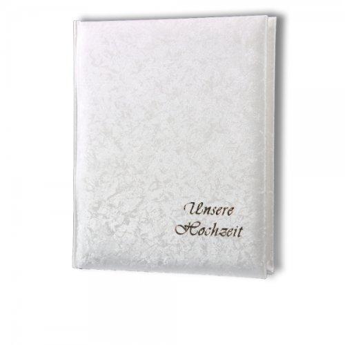 Passepartout Fotoalbum weiss B2150 (21) mit Goldschrift Unsere Hochzeit 15x21