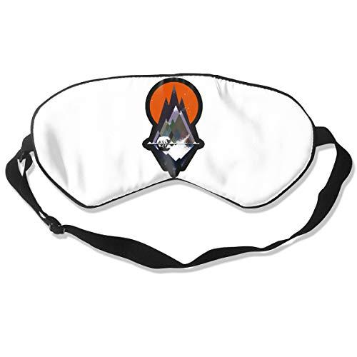Lijiahua Alaska Snow Mountain White Polar Bear Sleep Mask for Women & Men, Eye Mask for Sleeping with Adjustable Strap, Blindfold