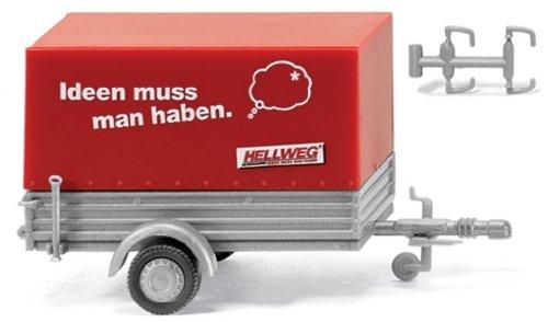 005602 - Wiking - Pkw-Anhänger mit Plane - Hellweg-Baumarkt