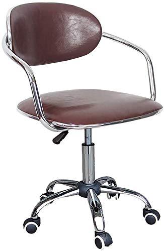 ZHFZD Moderne draaistoel van rotan, computerstoel, ergonomische bureaustoel, rugpaneel, ontvangststoel (kleur: D) Size F