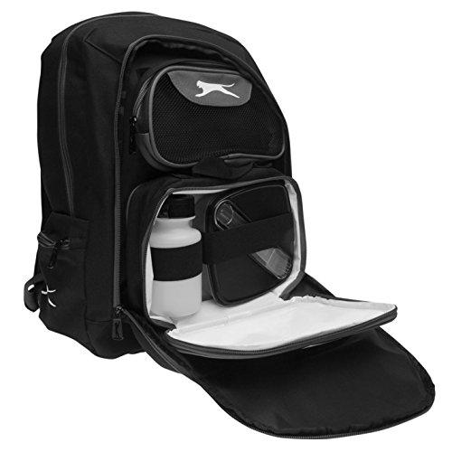 Slazenger Unisex Rucksack mit Brotdose Schwarz Einheitsgröße