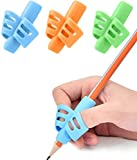 Pencil Grips - JuneLsy Pencil Grips for Kids Handwriting Pencil Grip Posture Correction Training Writing AIDS for Kids toddler Preschoolers Students Children Special Needs (3 PCS)