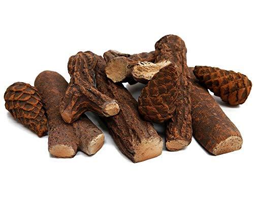 DRULINE 9-delige set keramische hout voor uw bio-ethanol open haard of gelhaard keramiek hout
