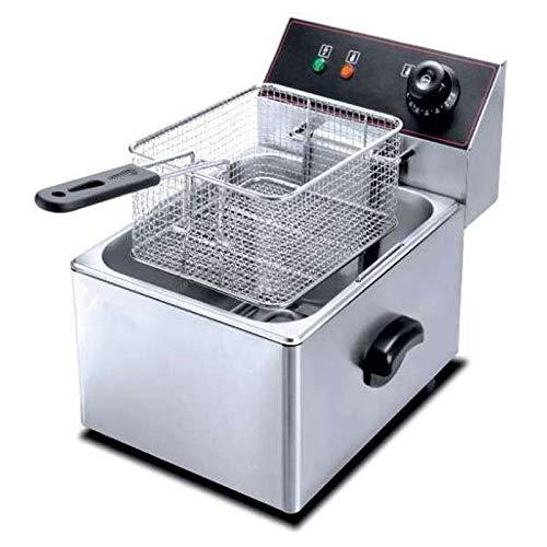 Friggitrice elettrica professionale, 10 litri, senza rubinetto, 265 x 425 x 350 mm, 3,25 potenza, grande capacità