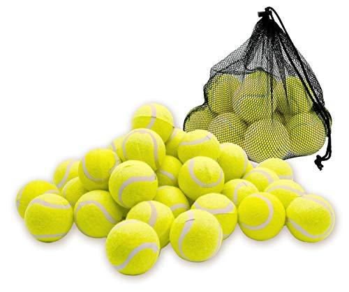 Taimani Tennisbälle | Langanhaltender Rückprall / Maschinenübung | Ideal für Sport, Haustiere | Hohe Sprungkraft | Professionelle Qualität, 12er-Pack