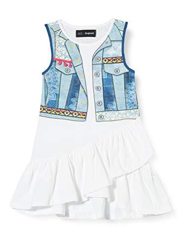 Desigual Vest_cuautitlá Vestido, Blanco (Blanco 1000), 104 para Niñas