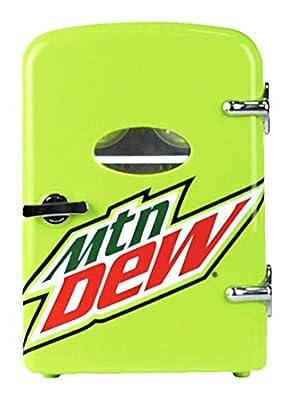 Mountain Dew 6-can Mini Fridge, MIS134MD, Green