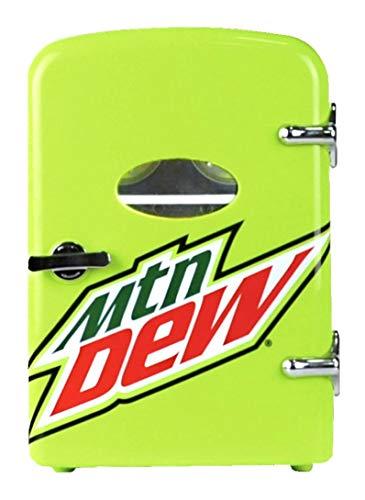 CURTIS Mountain Dew 6-can Mini Fridge, MIS134MD, Green, LIME