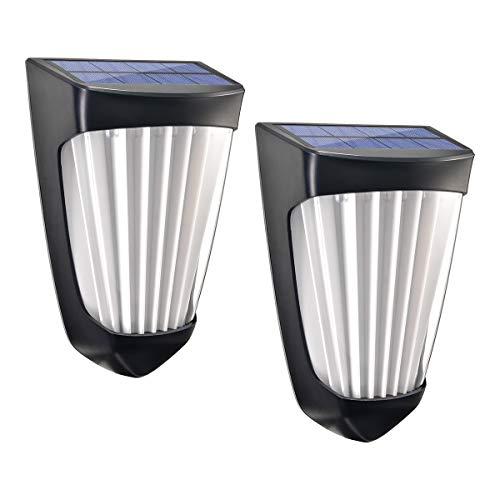 Sunix 10 x LED-Solar-Deko-Leuchten, Solar-Bewegungsmelder Sicherheitsleuchten, Einbau-Dekoleuchte für Wand, Säule, Flur, Haustür, Veranda, Garten