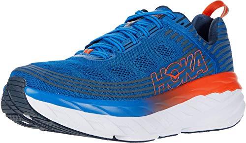 HOKA ONE ONE Bondi 6 Sportschuhe Hommes Blau/Orange - 41 1/3 - Laufschuhe