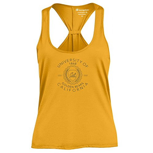 Champion NCAA Women's Swing Silouette Racer Back Tank Top, California Golden Bears, Large