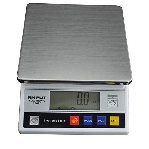 Báscula Electronico Digital 7.5kgx0.1g, Báscula con Pantalla LCD, Balanza Electrónica Peso de Alimentos, Balanza de Laboratorio
