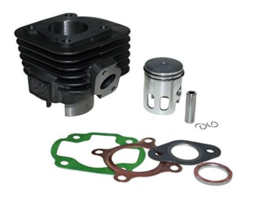 Zylinder Kit 50ccm AC luftgekühlt 12mm Pin gerader Flansch für liegende CPI Motoren, Adly, Benelli,CPI, Generic, Keeway, Malaguti, Sachs 50