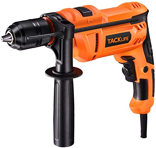 Hammer Drill TACKLIFE 7.5Amp Corded Drill with 3000RPM Variable Speed 1/2 Inch Keyless Chuck Hammer & Drill 2 Mode in 1 for Brick Steel Wood - PID05A