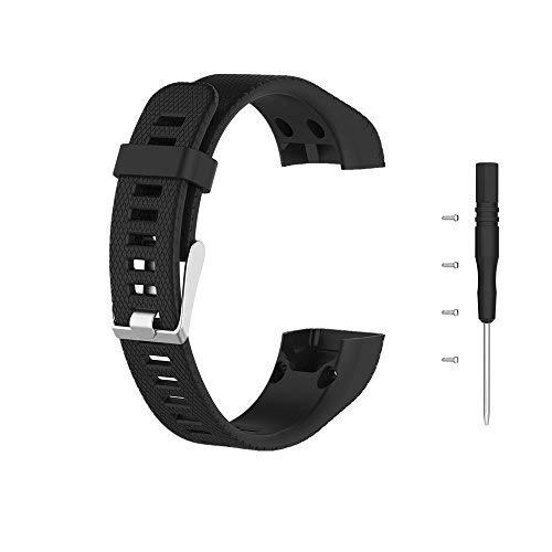 Meiruo Armband für Garmin Vivosmart HR+, Fitness Band für Garmin Vivosmart HR Plus (Schwarz)