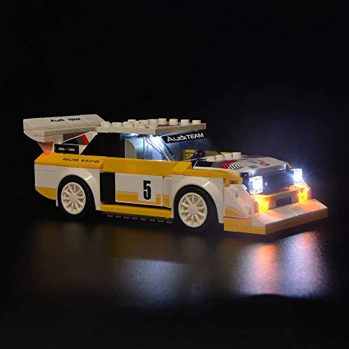 SIROD Kyglaring LED-Beleuchtungsset für Lego 76897 Speed Champions Audi Quattro S1 Bausteine aus Lehmziegeln für Lego 76897 Audi S1 Bausteine (Modell 76897 Nicht im Lieferumfang enthalten)