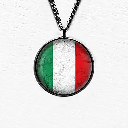 Italy Italian Italia Italien Italion Flagge Anhänger und Halskette