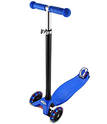 Ancheer Scooter aus Aluminium mit 4 LED-Rädern, für Kinder, höhenverstellbar, für Jungen und Mädchen, 68 – 86,5 cm, tolles Geschenk für Kinder, geeignet für Kinder von 3 bis 12 Jahren (blau)