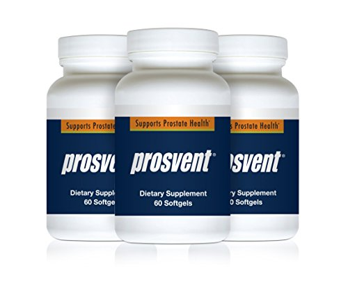 Prosvent – Natural Prostate Health Supplements for Men – Clinically Tested Ingredients - Saw Palmetto, Pygeum, Lycopene, Stinging Nettle, Beta Sitosterol, and Pumpkin Seed Oil. 3mth Supply -180 Count