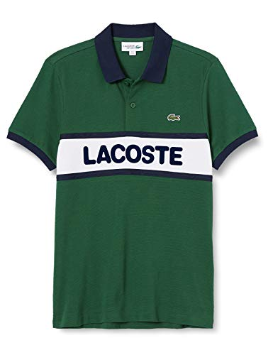 Lacoste YH1532 Camisa de Polo, Verde/Blanco-Marino, XS para Hombre