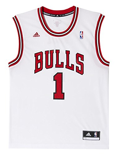 adidas Herren Trikot International Chicago Bulls Derrick Rose NBA Replica, Multi, XS, L71371