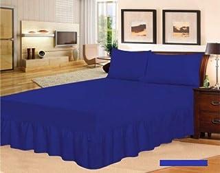 Tour de lit (bleu roi, lit double).