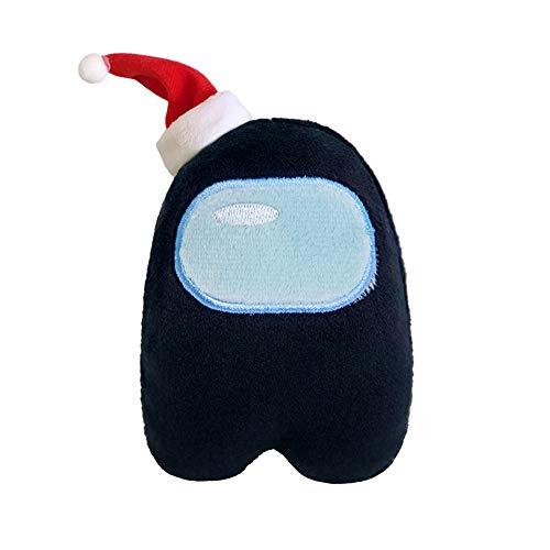 Among Us ぬいぐるみ おもちゃ 玩具 コスプレ ゲーム 萌えグッズ かわいい プレゼント,黒,30CM