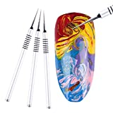 andy cool Premium Quality New Acrylic 3D Painting Drawing UV Gel DIY Brush Pen Water Marble Tool Nail Art Silver