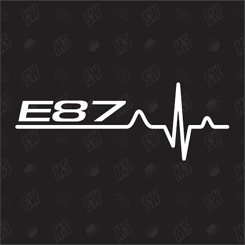 speedwerk-motorwear E87 Herzschlag - Sticker für BMW, Tuning Fan Aufkleber
