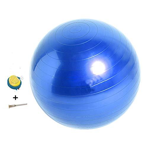 ARONTOME - Pelota de ejercicio (55 cm, soporta 2000 libras), antiráfaga y extra gruesa, bola suiza con bomba rápida, bola de nacimiento para yoga, pilates, fitness (azul)