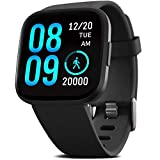 "FITVII Smart Watch, Fitness Tracker with Heart Rate Monitor, IP68 Waterproof Smartwatch with Blood Pressure Sleep Tracking, Step Calorie Counter, Activity Tracker with 1.3"" Touch Screen for Women Men"