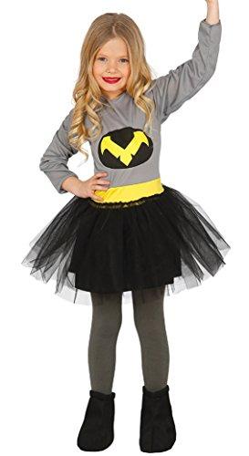 Guirca- Disfraz niña murciélago, Talla 3-4 años (83216.0)