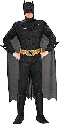 Rubie's 880671, Costume di Batman per uomo, Poliestere, Nero, M
