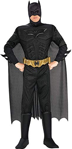 Rubie's Men's The Dark Knight Rises Deluxe Adult Batman Costume, Black, Large