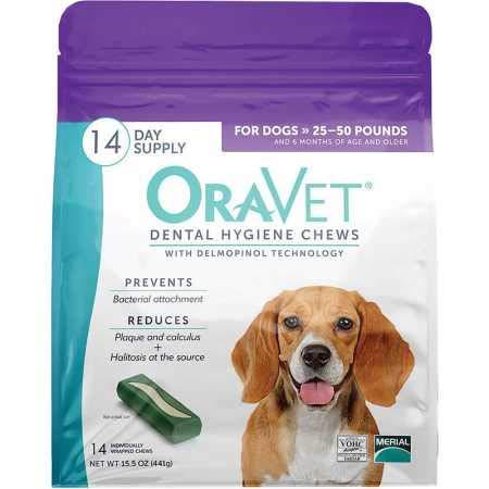 Oravet Dental Hygiene Chews Medium 2550lbs (14 Count)