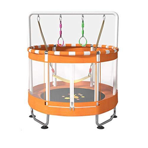 HAYN Trampolín para niños Al Aire Libre y Interior Mini Broncler Trampoline con Red de gabinete, Aro de Baloncesto, Trampoline MAX 150kg Regalos de cumpleaños para niño