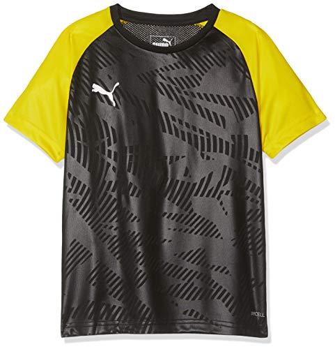 PUMA Kinder CUP Training Jersey Core Jr Trikot, Black-Cyber Yellow, 152