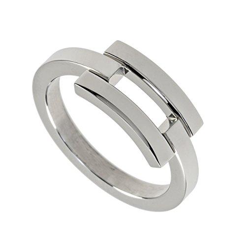 M & M Georg Plum Designer Di Anello signora anello cocktail anello acciaio inossidabile 5433r4 – 09., acciaio inossidabile, 53 (16.9), cod. 5433R4-09