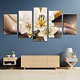 5 Leinwand Gemälde 5 Stück Lilien Poster Wandkunst Poster