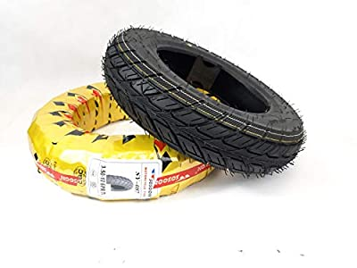 Pair of 3.50-10 Black Mobility Scooter Tyres, (6PLY) TGA Breeze S3-S4