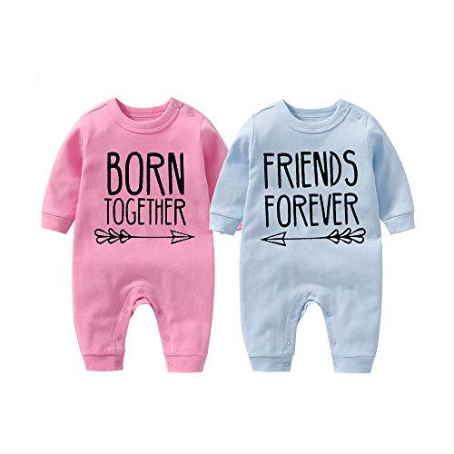 culbutomind Beste Freunde Für Immer Fun Baby-Strampler Baby Geschenke Geburt Erstausstattung (Mehrfarbig, 12-18 Monat)