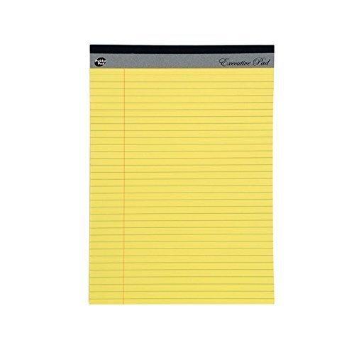 Pukka gelb liniert, rechtliche Executive Papier-Nachfüllpackung Rand, 8 mm, 60