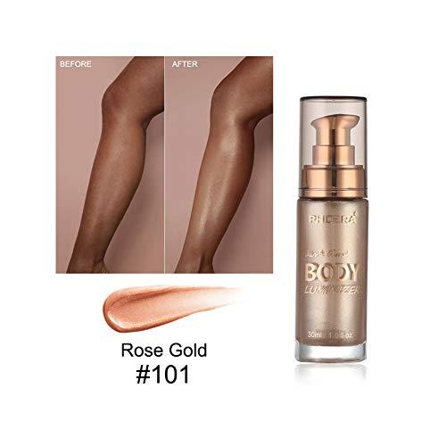 Allouli Glow Liquid Highlighter High Gloss Body Face Glitter Bronze Illuminator Gel Shimmer Contour Makeup