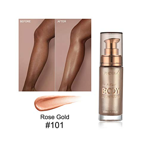 Allouli Glow Liquid Highlighter High Gloss Body Face Glitter Bronze Illuminator Gel Shimmer Contour Makeup