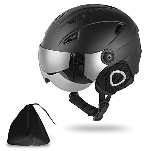ACC snowboard-helm, winter winddichte skihelm met goggles verstelbaar voor mannen en vrouwen, zwart