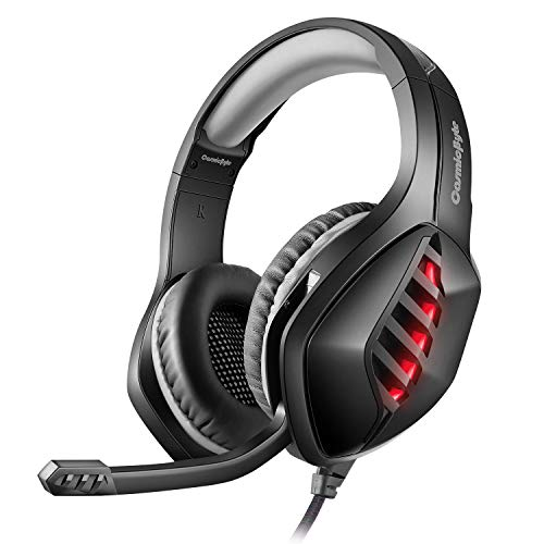 Cosmic Byte GS430 Gaming Headphone, 7 Color RGB LED and Microphone for...