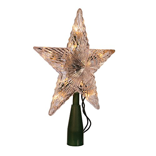 Kurt Adler Star Treetop 10-Light Set, 7-Inch, Clear
